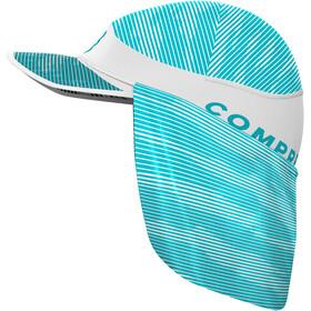 Compressport Ice Sun Shade Cap, blanco/azul